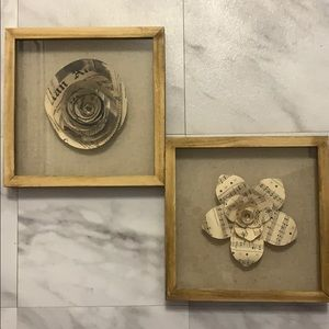Flower shadow box wall art